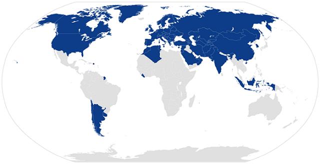 Države Potpisnice TIR Konvencije